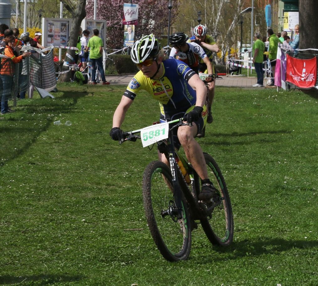 Steffi Weniger kurz vor dem Ziel