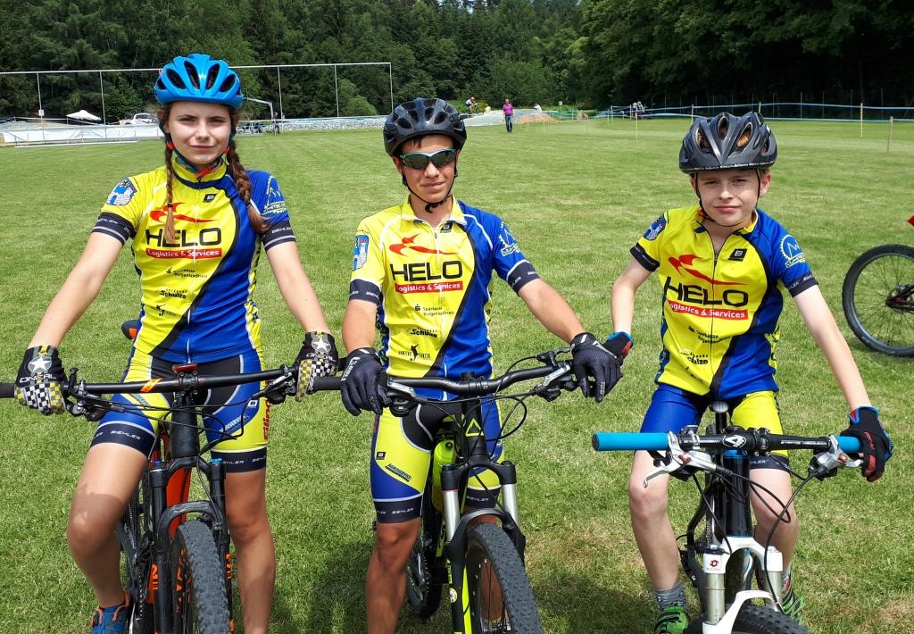 Unsere Staffel: Celina, Fabian, Frieder (von links)